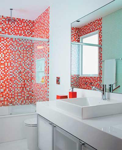 dicas de banheiros decorados com pastilhas