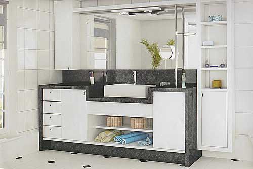 decoração minimalista de banheiros