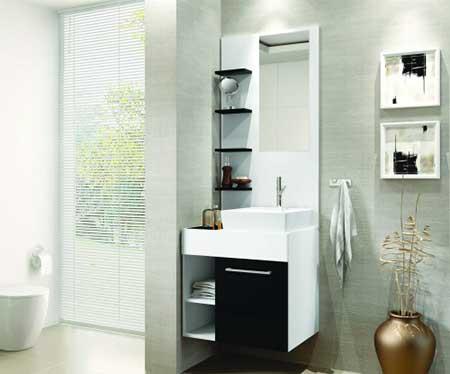 #474393 30 DICAS DE DECORAÇÃO DE BANHEIROS PEQUENOS 450x374 px Decoração De Banheiro Simples E Bonito 3818
