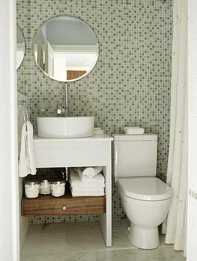 decoracao e banheiro:Decoração de Banheiros Pequenos, Estreitos e Simples