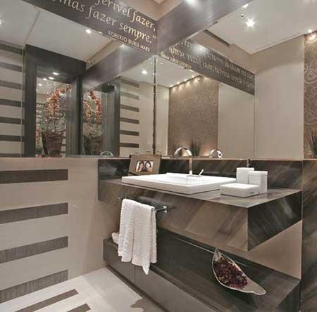 imagens de Banheiros pequenos sofisticados