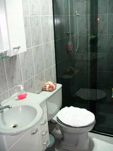 35 DICAS DE COMO DECORAR BANHEIROS Fotos e Dicas -> Banheiro Pequeno Mas Lindo