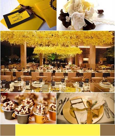 fotos de casamentos decorados em amarelo