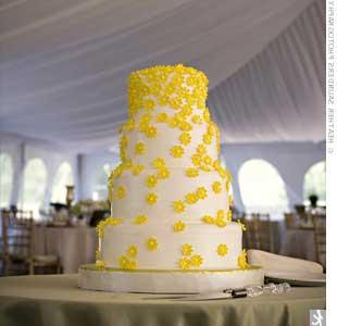 bolo de casamentos decorados em amarelo