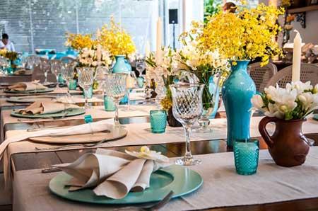 Fotos de Casamento amarelo com azul