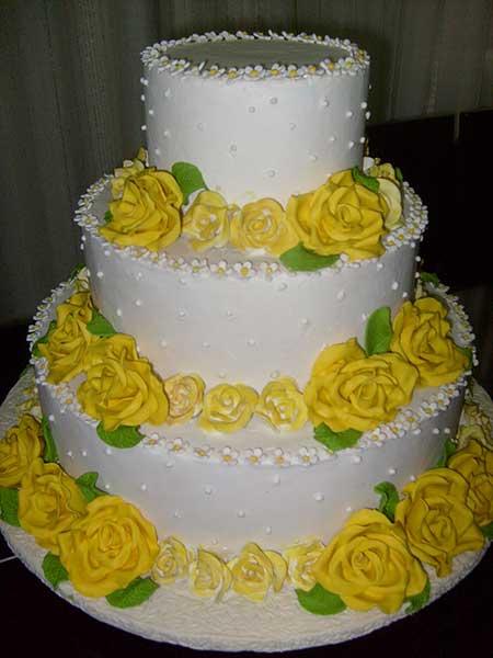 Imagens de Casamento amarelo com branco