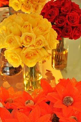 sugestões e dicas de casamentos na cor amarela