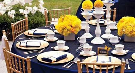 Fotos e sugestões de Casamento amarelo e azul marinho