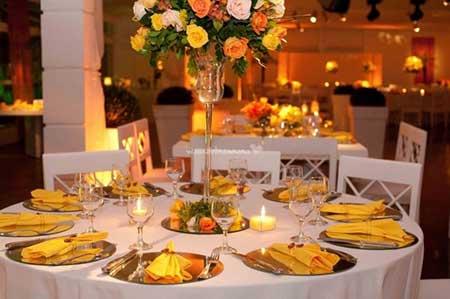 Fotos de Casamento amarelo e laranja