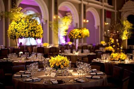 dicas de como decorar casamentos com amarelo