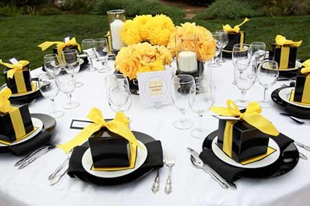 fotos de como decorar casamentos com amarelo