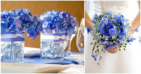Imagens de Casamento azul com branco