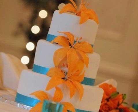 Dicas de Casamento azul com laranja