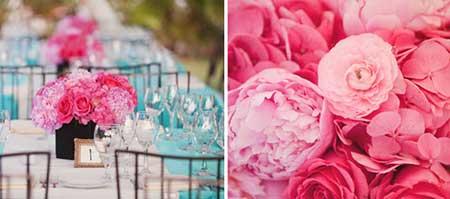 Imagens de Casamento azul com rosa