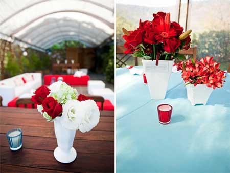 Fotos, dicas e imagens de Casamento azul com vermelho