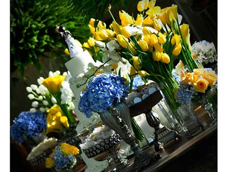 Fotos de casamento-azul-e-amarelo-a-noite