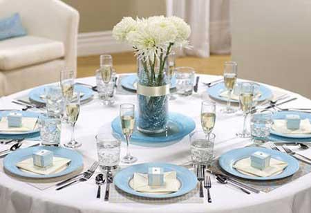 Imagens de Casamento azul e branco