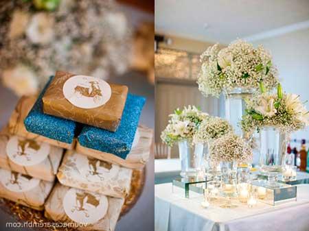 Fotos de Casamento azul e dourado