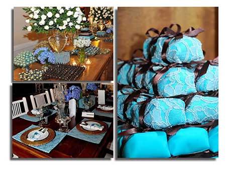 casamentos decorados com azul