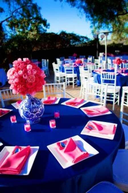 dicas, imagens e fotos de Casamento azul marinho e rosa