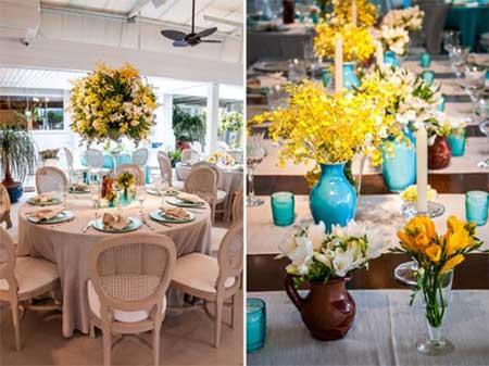 Dicas e imagens de Casamento azul tiffany e amarelo