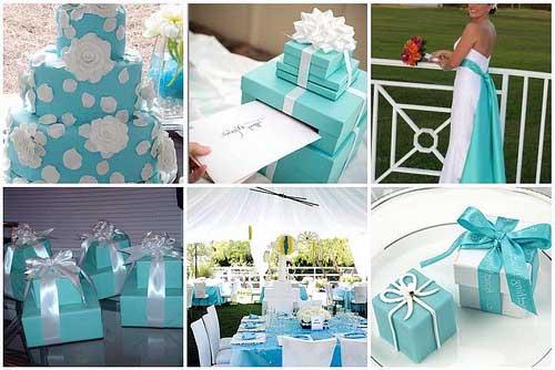 Dicas de Casamento azul turquesa e branco