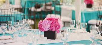 Imagens de Casamento azul turquesa e rosa