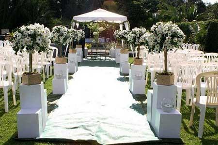 Imagens e fotos de casamento acontecendo de dia