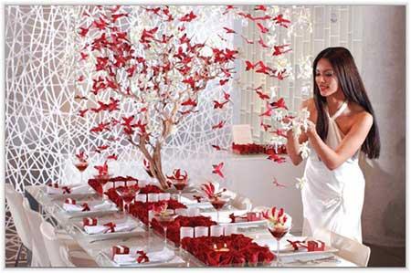 Casamentos criativos decorados com origamis japoneses