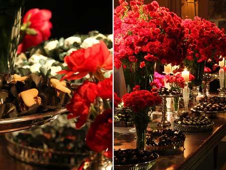 ideias de casamentos decorados com vermelho