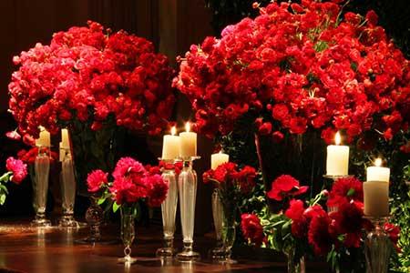 imagens de casamentos decorados com vermelho