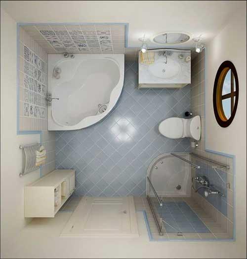 35 DICAS DE COMO DECORAR BANHEIROS Fotos e Dicas -> Banheiro Pequeno Cor Clara