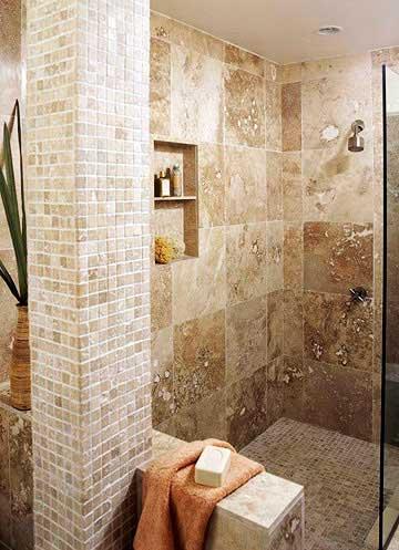 Fotos de Decoração de banheiros bege