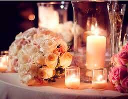Dicas de Decoração de casamento com velas em fotos
