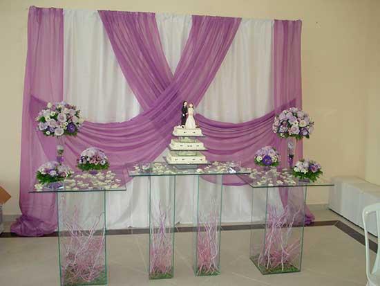 Dicas de Decoração de casamento simples lilas