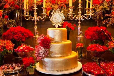 fotos de decoração para casamentos com cores vermelhas