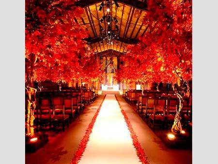 sugestões de casamentos decorados com vermelho