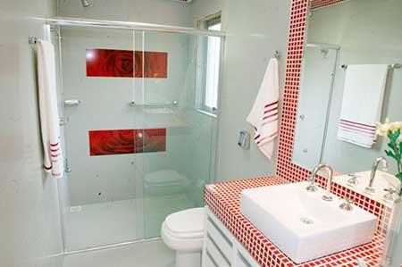 sugestões de banheiros com decoração