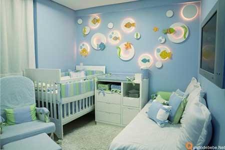 30 dicas de como decorar quarto de beb for Habitacion para bebe