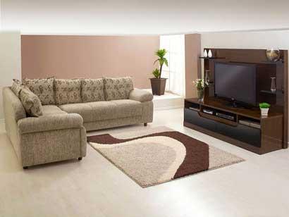 Decora o de casas pequenas baratas bonitas ideias fotos for Sala de estar com um sofa