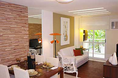 Decora o de casas pequenas baratas bonitas ideias fotos for Salas pequenas para casas pequenas