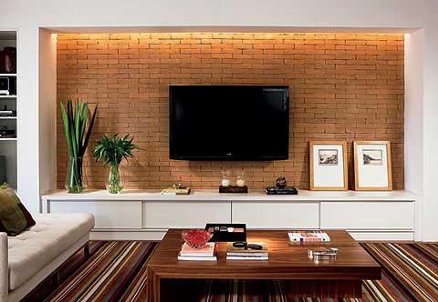 30 dicas decora o da sala de tv pequena simples grande for Figuras en draibol para sala