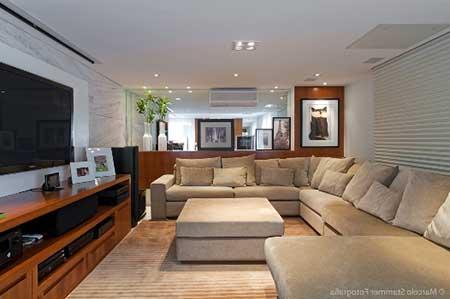 30 dicas decora o da sala de tv pequena simples grande for Salas pequenas e modernas