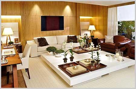 30 dicas decora o da sala de tv pequena simples grande for Sala rustica moderna