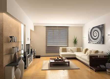Decoracao simples para salas pequenas e grandes for Applying the harmony to your living room paintings