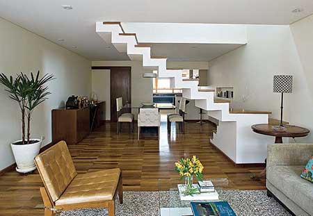120 dicas de decora o para sala de estar for Sala de estar grande com escada
