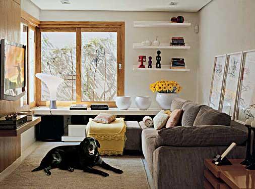 fotos de decoração para salas pequenas