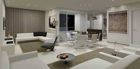sala com tapetes lindos