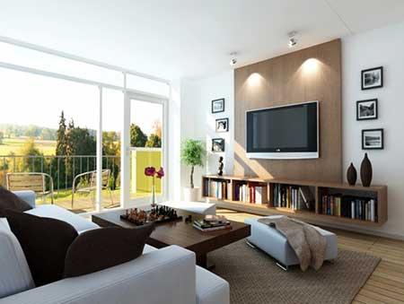 Sala pequena simples decorada