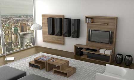 salas de estar decorada
